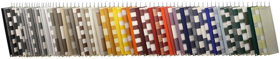 verschillende soorten kleuren zonneschermdoek