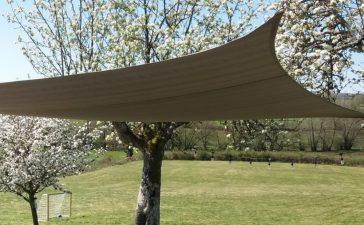 Een schaduwdoek rechthoek- dit doet het voor je tuin